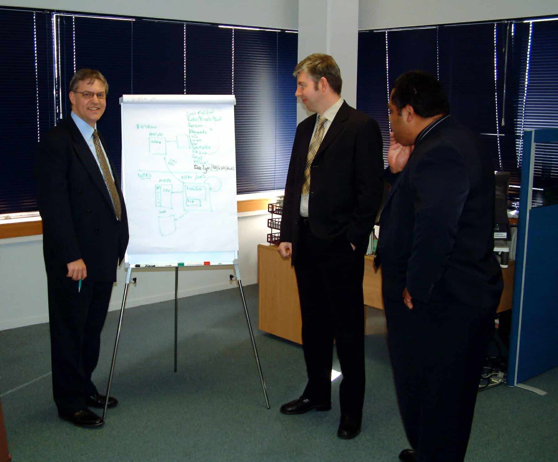 Paul Hughes training staff at Practical Education Institute in New Zealand